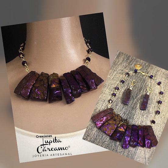 Collar Violeta (2 piezas)