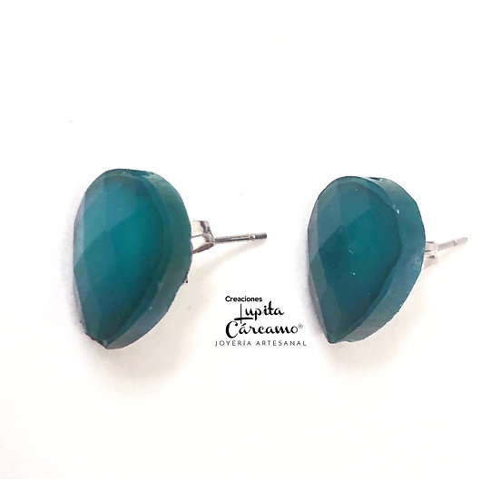 Aretes Argot ( Azul pet)