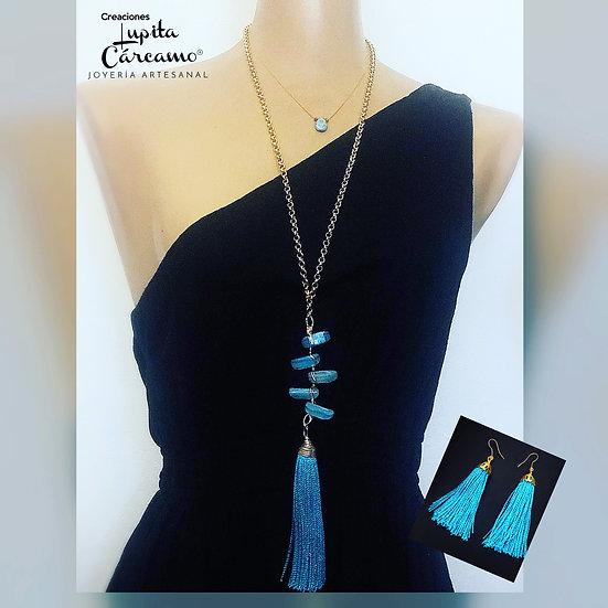 Collar  Selene  ( con Aretes)