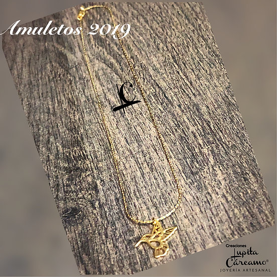 Gargantilla amuleto Colibrí