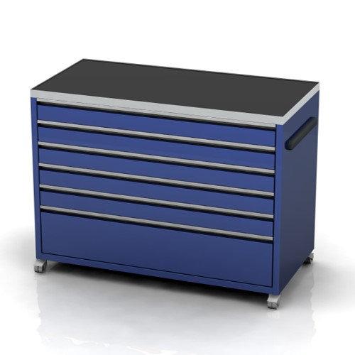 1160mm wide under bench garage cabinets on castors