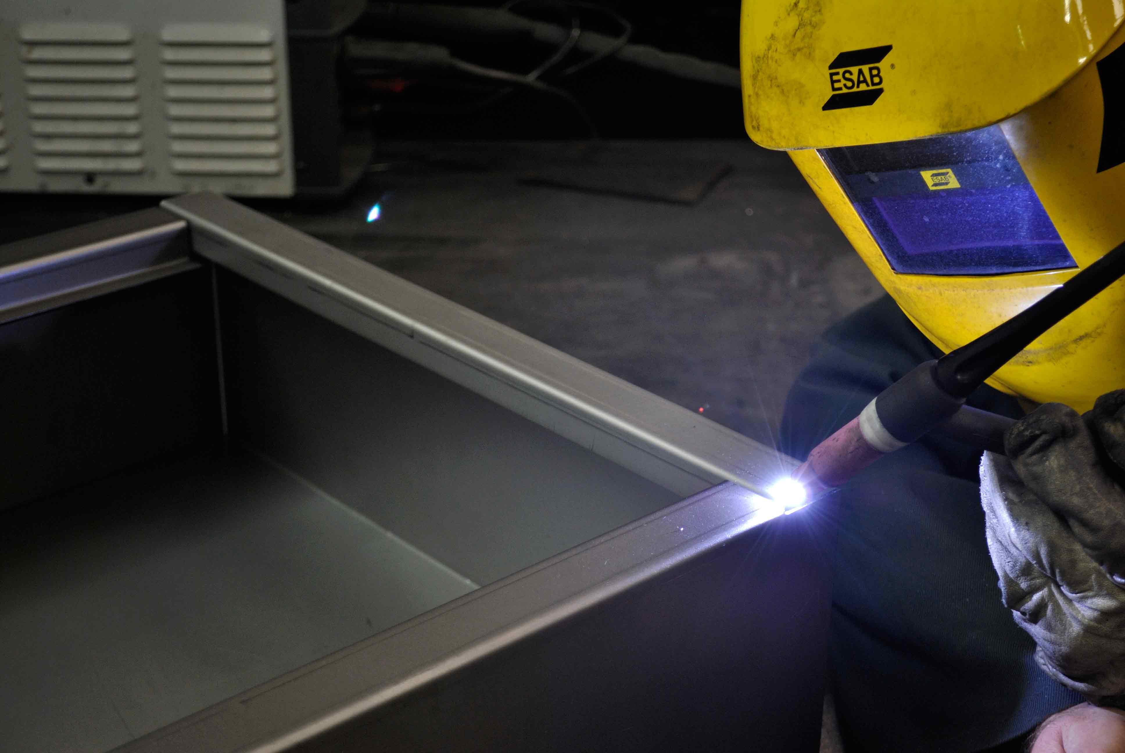 TIG welding a garage cabinet