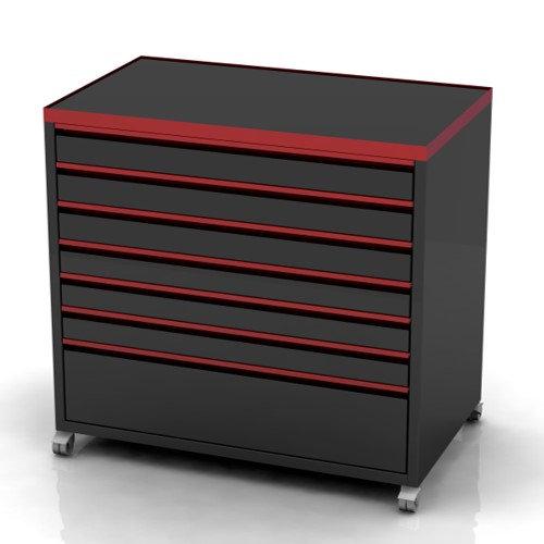 Garage Furniture tools storage box red