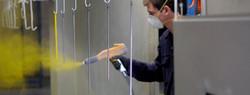 Powder coating garage furniture