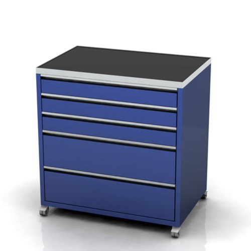 Garage furniture tool cabinets on castors 5 drawer 900mm wide