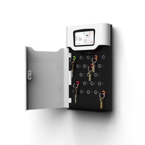 Car key storage cabinet. Traka 21 key cabinet