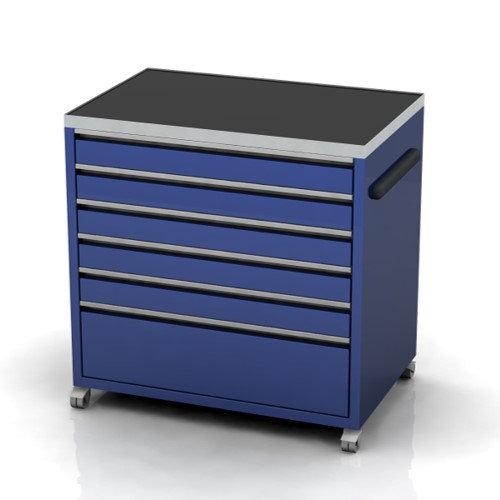 860mm wide under bench garage cabinet on castors