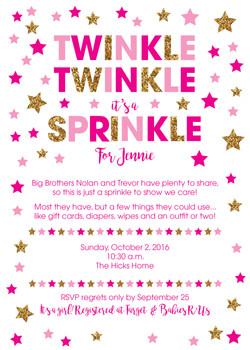 Twinkle Twinkle It's a Sprinkle