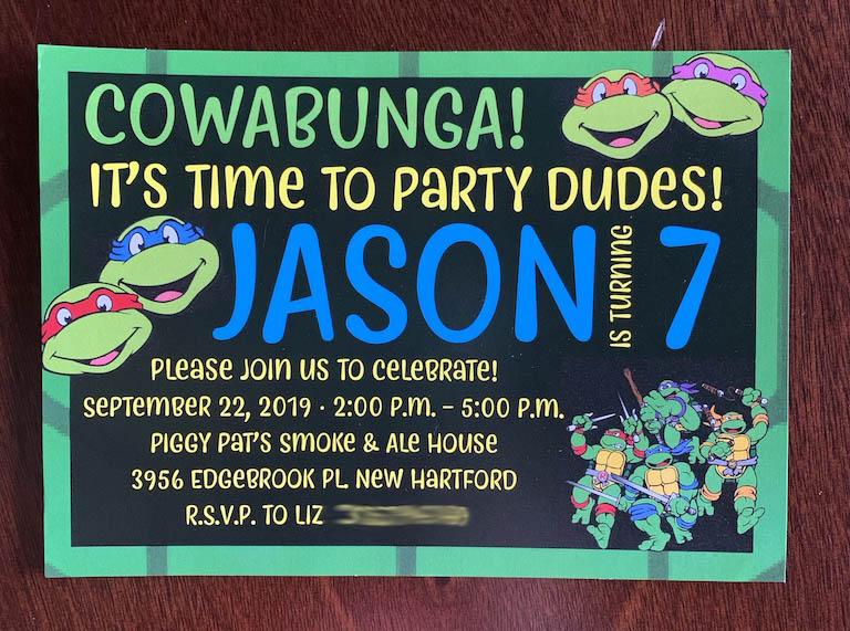 Turtles Invitation
