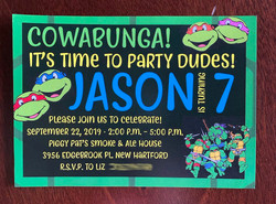 Turtles Invitation