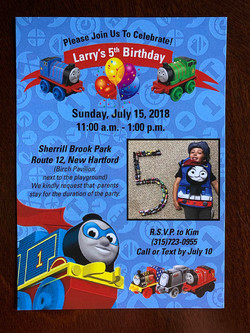 Thomas Minis Invitation