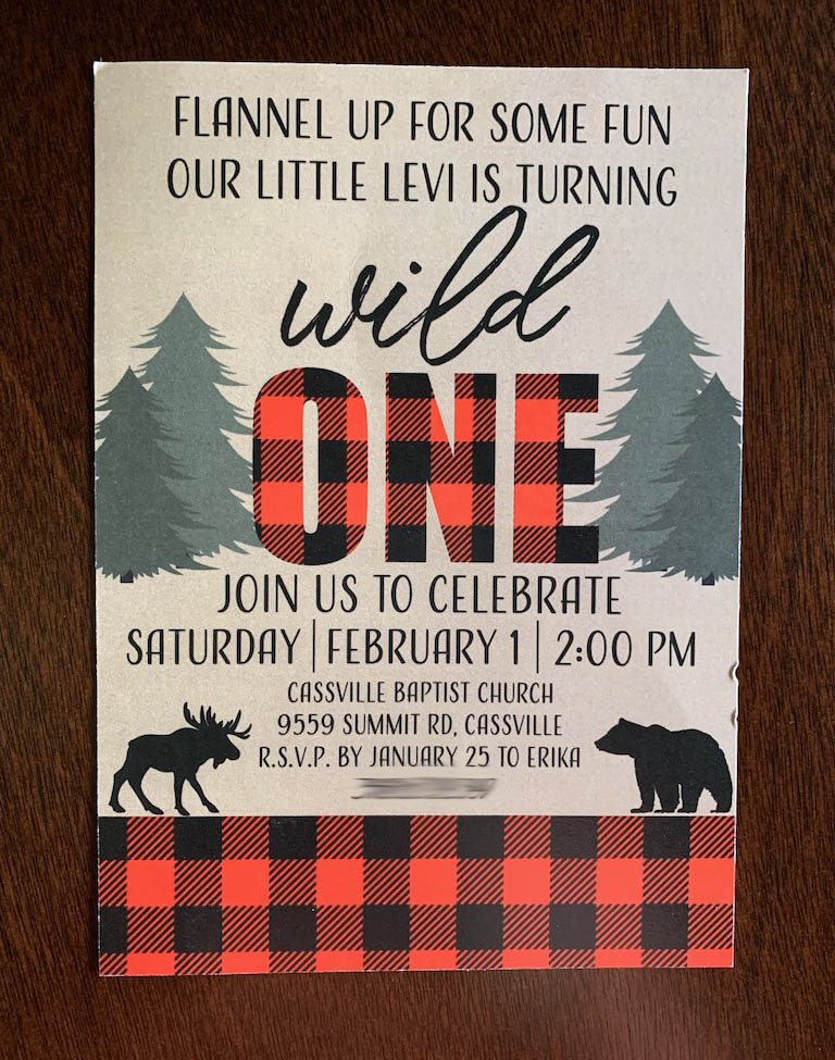 Wild One Party Invitation