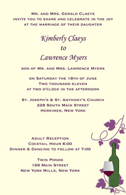Grape Leaves Invitation