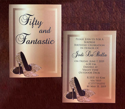 50th birthday invitation, fifty and fantastic