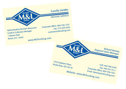 M&L Trucking Business Cards