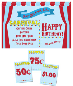Carnival Poster & Tags