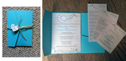Turquoise Birch Heart Set