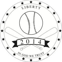 Baseball Coin Logo