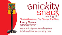 Snickity Snack Vending Business Card