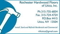 Rochester Hardwood Floors Business Card