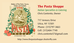 The Pasta Shoppe Business Card