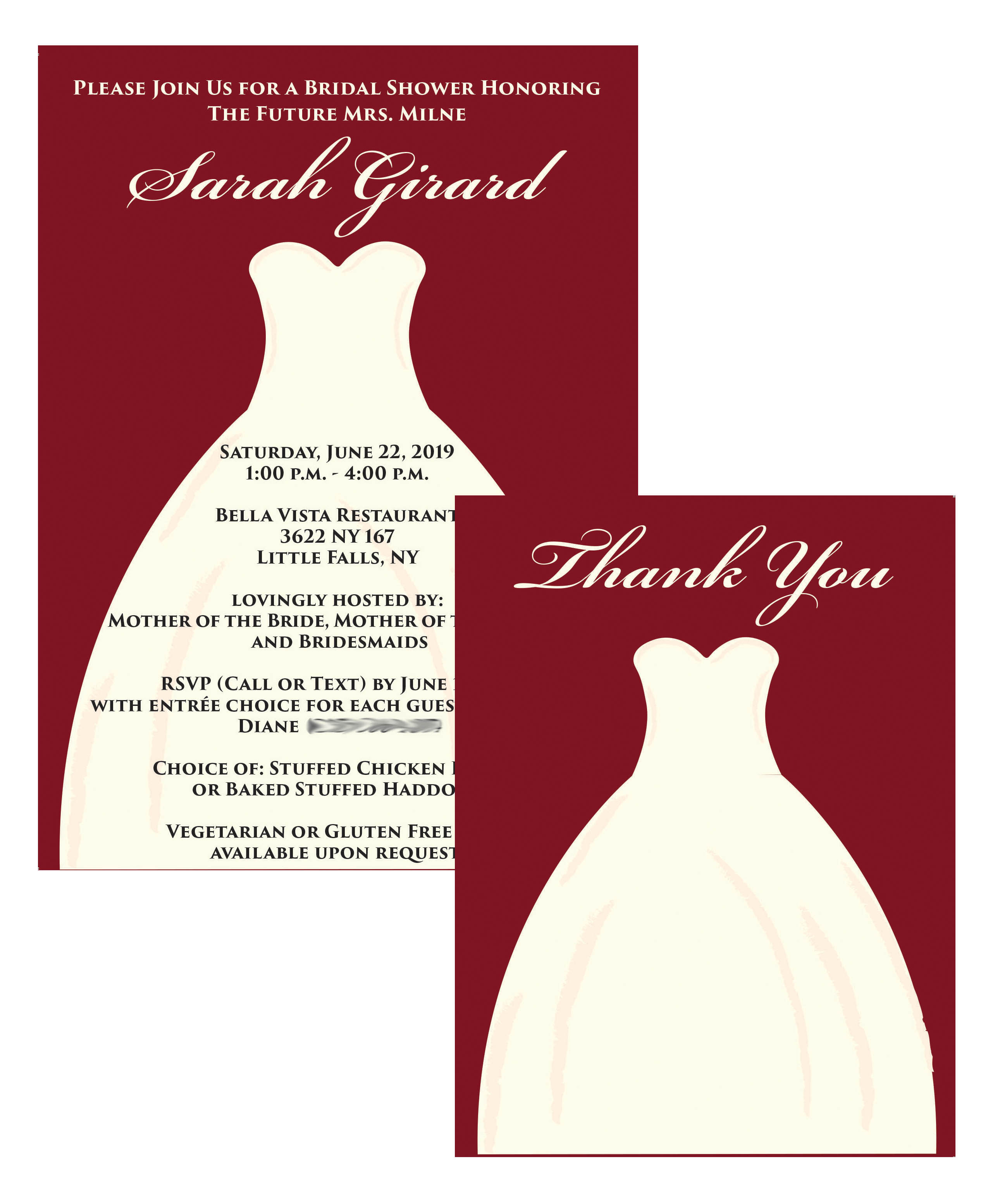 Wedding Dress Shower Set