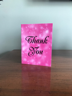 Pink Sparkle Thank You Card