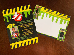 Ghostbusters Invitation and Thank You Card