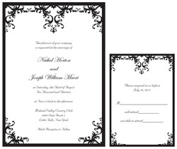 Black Damask Set