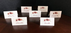 Cupcake Flavor Place Cards