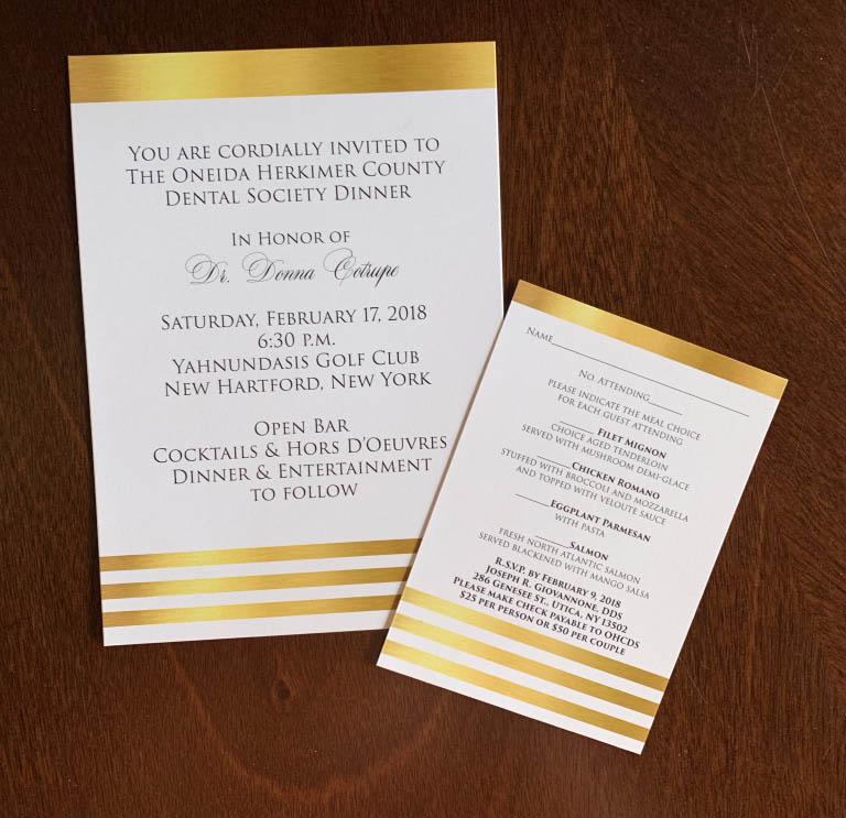 Dental Society Invitation & RSVP Card