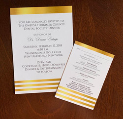 Dental Society Invitation & RSVP Card