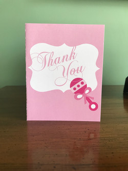 Baby Rattle Thank You Card