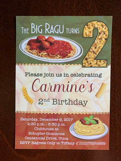 Big Ragu Invitation