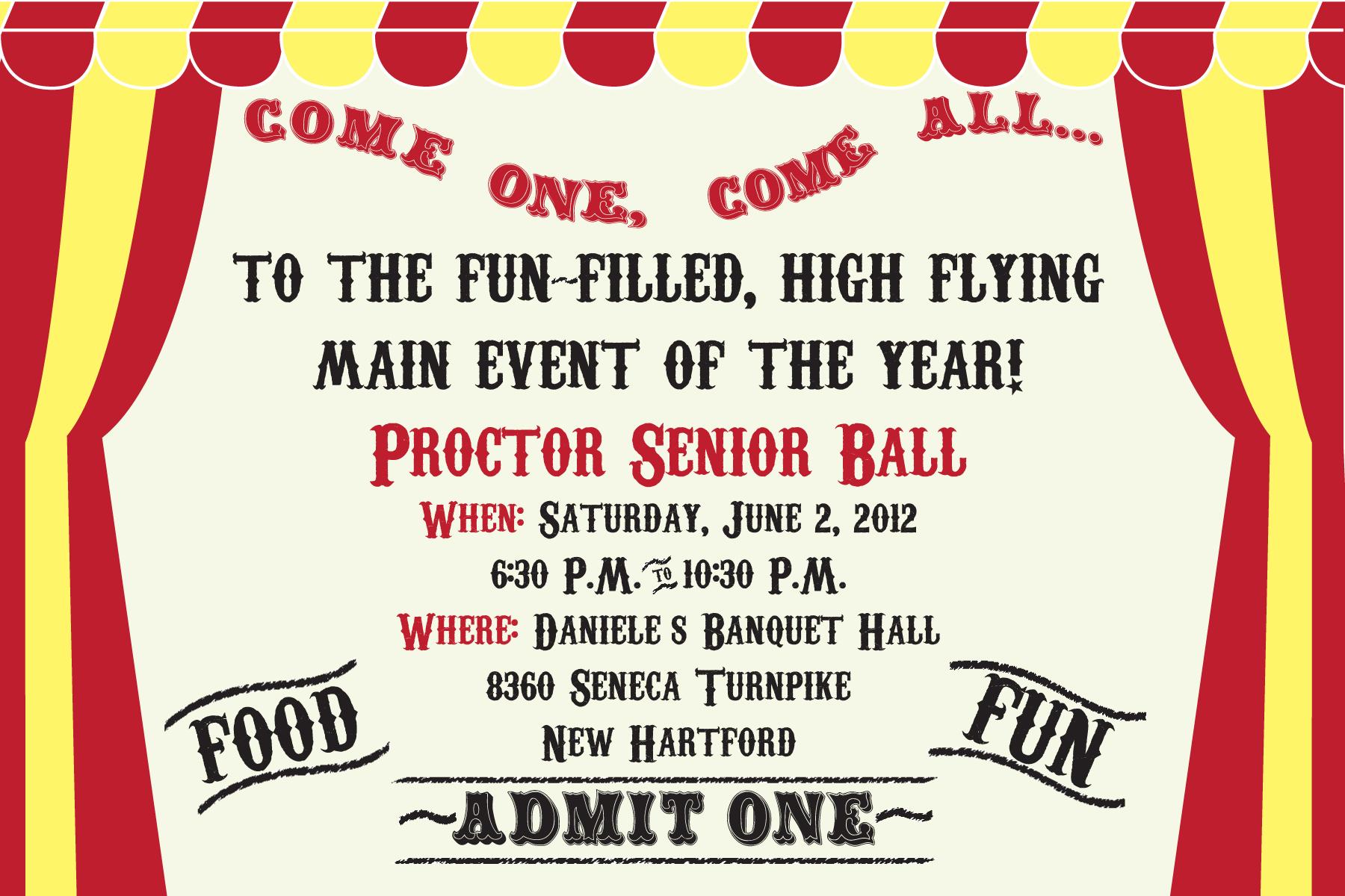 Proctor Ball Ticket