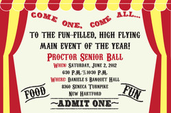 Proctor Ball Ticket