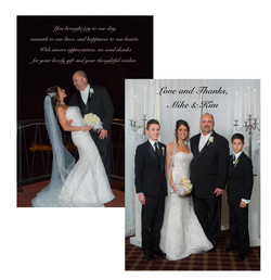 Wedding Photo Thank You Card