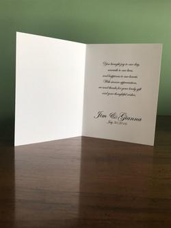 Elegant Thank You Card Inside