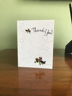 Airplane Teddy Bear Thank You Card
