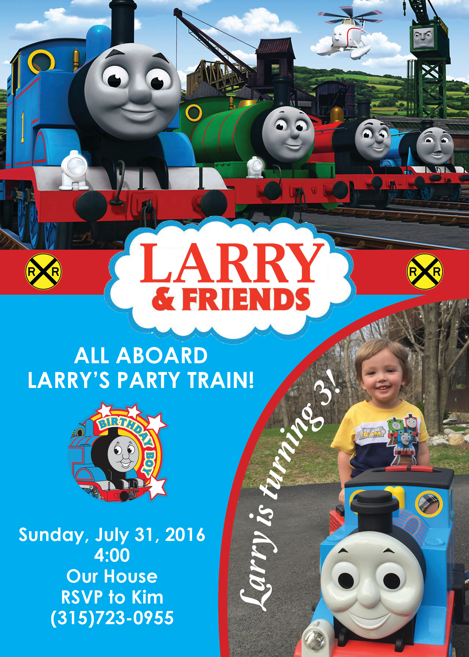 Thomas & Friends Invitation