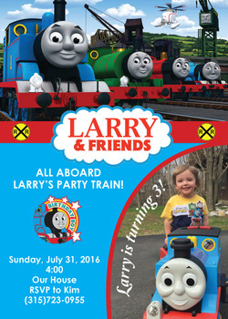 Thomas & Friends Invitation