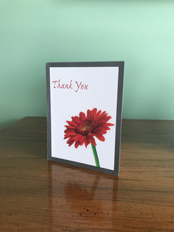 Red Daisy Thank You Card