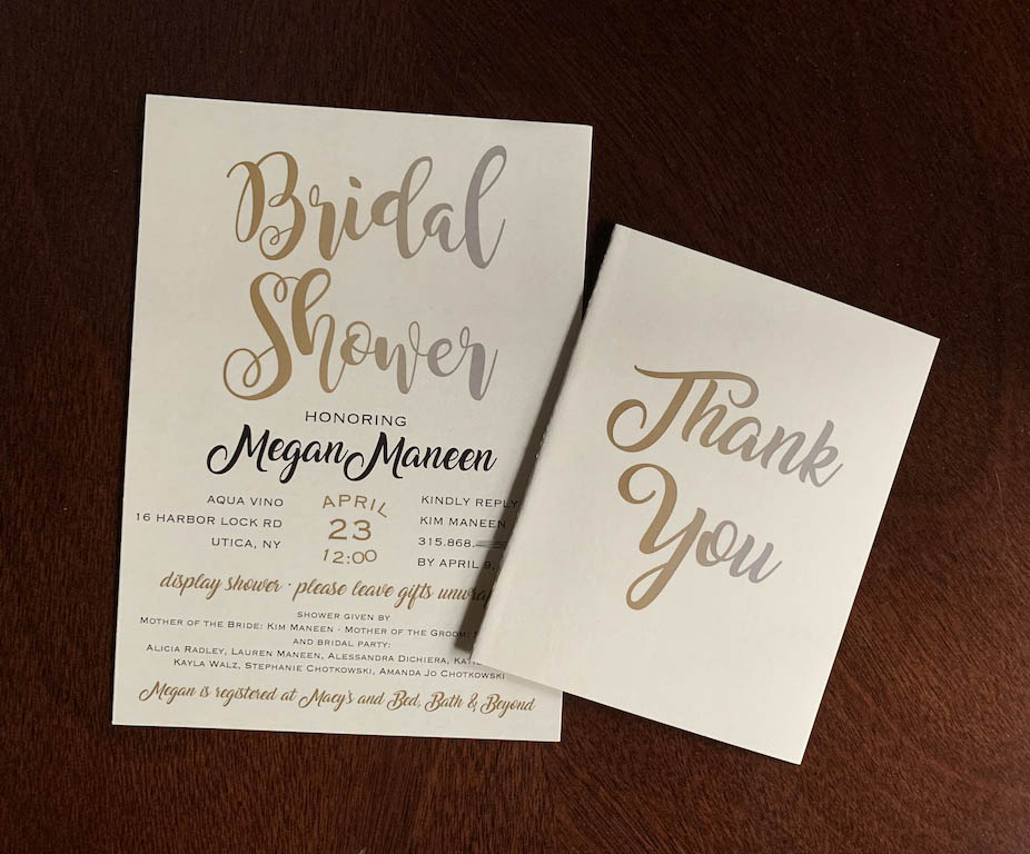 Silver and Gold Bridal Shower Invitation