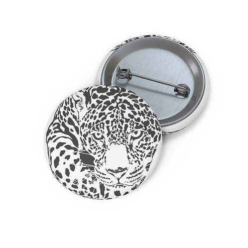 Jaguar eyes Custom Pin Buttons