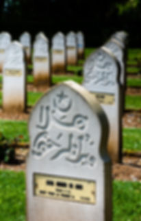 Muslim headstones at Notre Dame de Loret