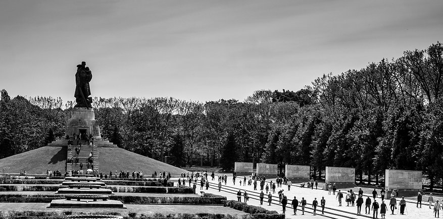 Treptower Park Soviet war memorial on May 8, 2020 -- the 75th anniversary of Nazi Germany's surrender