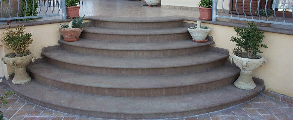 Scale da esterno in Marmo