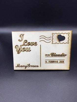 Cartolina in Legno personalizzata