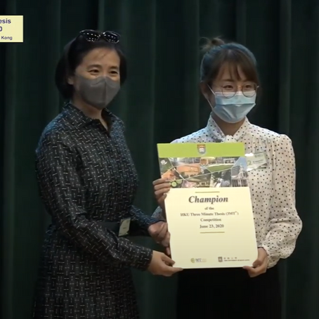 Ms. Muyan Wu has got the Championship of the HKU Three Minute Thesis (3MT®) Competition