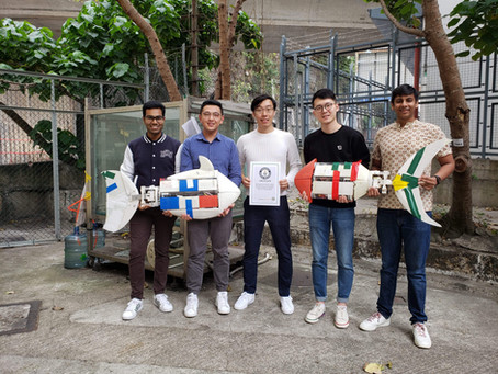 HKU robotic fish team supervised by Zheng Wang for obtaining the Guinness World Record of fastest 50